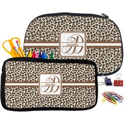 Leopard Print Pencil / School Supplies Bag (Personalized)