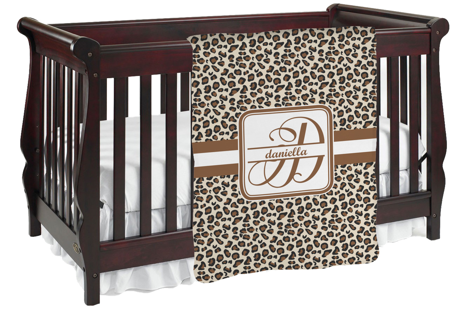 Leopard Print Baby Blanket Personalized