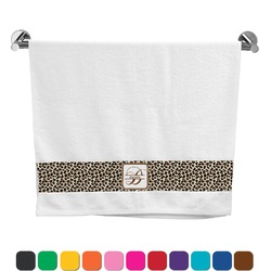 Leopard Print Bath Towel (Personalized)