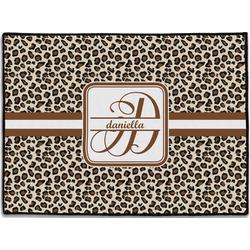 Leopard Print Door Mat (Personalized)
