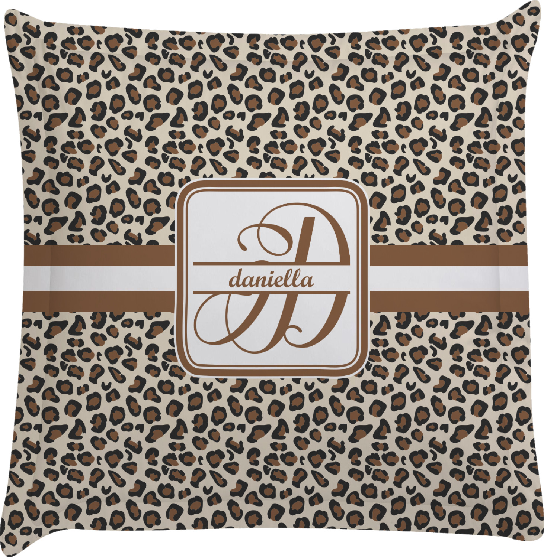 Animal Print Euro Pillow Shams : Leopard Print Euro Sham Pillow Case (Personalized) - YouCustomizeIt