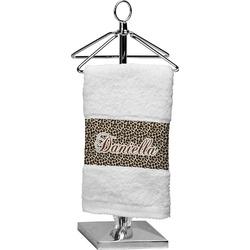 Leopard Print Finger Tip Towel (Personalized)