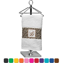 Leopard Print Finger Tip Towel (Personalized)