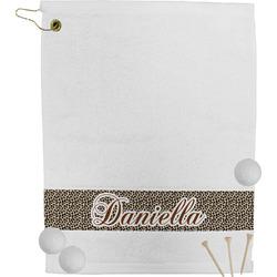 Leopard Print Golf Towel (Personalized)