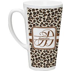 Leopard Print 16 Oz Latte Mug (Personalized)