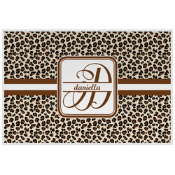 Leopard Print Laminated Placemat w/ Name and Initial