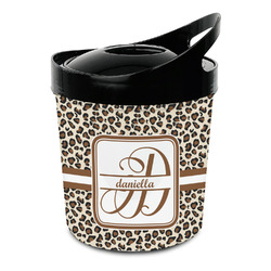 Leopard Print Plastic Ice Bucket (Personalized)