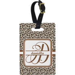 Leopard Print Rectangular Luggage Tag (Personalized)