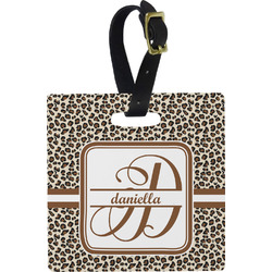 Leopard Print Square Luggage Tag (Personalized)