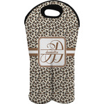 Leopard Print Wine Tote Bag (2 Bottles) (Personalized)