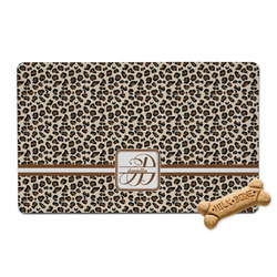 Leopard Print Pet Bowl Mat (Personalized)