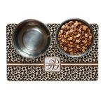 Leopard Print Dog Food Mat (Personalized)