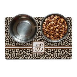 Leopard Print Pet Bowl Mat (Personalized)