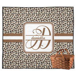 Leopard Print Outdoor Picnic Blanket (Personalized)