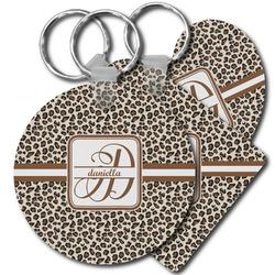 Leopard Print Plastic Keychains (Personalized)