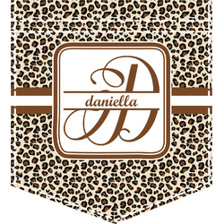 Leopard Print Iron On Faux Pocket (Personalized)
