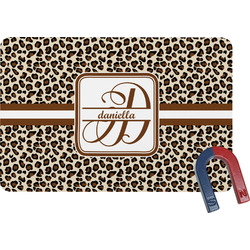 Leopard Print Rectangular Fridge Magnet (Personalized)