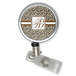 Leopard Print Retractable Badge Reel (Personalized)