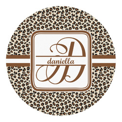 Leopard Print Round Decal - Custom Size (Personalized)