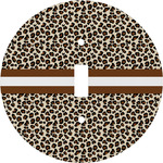 Leopard Print Round Light Switch Cover (Personalized)