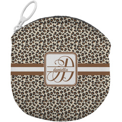 Leopard Print Round Coin Purse (Personalized)