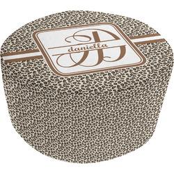 Leopard Print Round Pouf Ottoman (Personalized)
