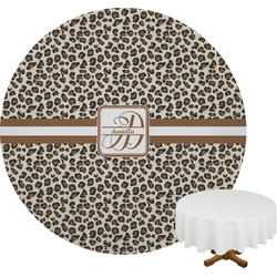 Leopard Print Round Tablecloth (Personalized)