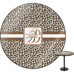 Leopard Print Round Table (Personalized)