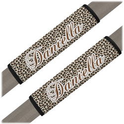 Leopard Print Seat Belt Covers (Set of 2) (Personalized)