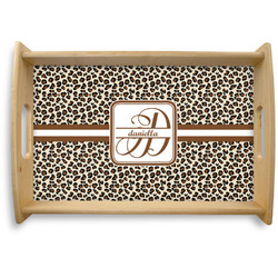 Leopard Print Natural Wooden Tray (Personalized)