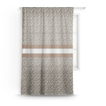 Leopard Print Sheer Curtains (Personalized)
