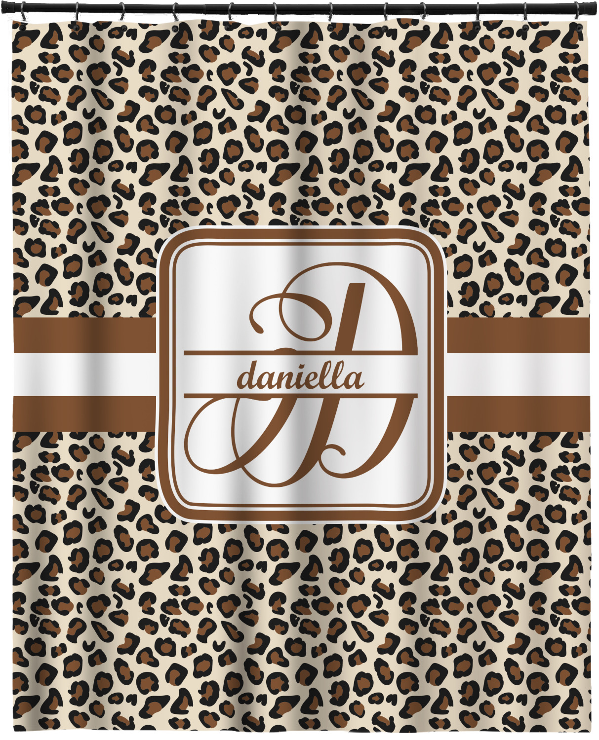 leopard print long shower curtain 70 x90 personalized