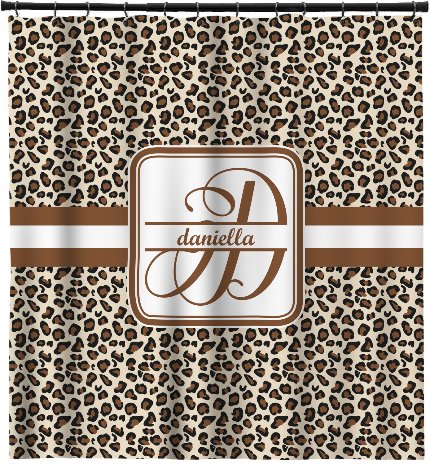 Leopard Print Shower Curtain Personalized
