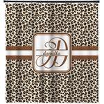 Leopard Print Shower Curtain (Personalized)