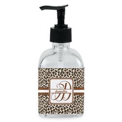Leopard Print Soap/Lotion Dispenser (Glass) (Personalized)