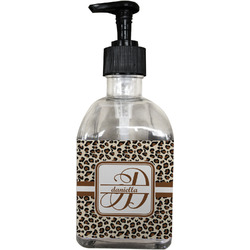 Leopard Print Soap/Lotion Dispenser (Glass) (Personalized)