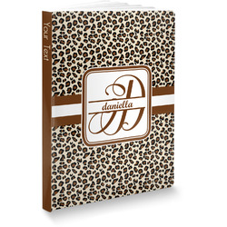 Leopard Print Softbound Notebook (Personalized)