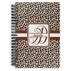 Leopard Print Spiral Bound Notebook - 7x10 (Personalized)