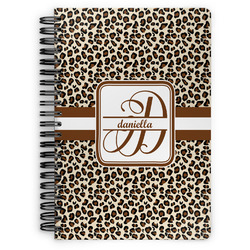 Leopard Print Spiral Bound Notebook (Personalized)