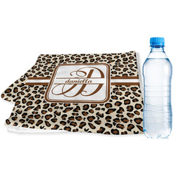 Leopard Print Sports & Fitness Towel (Personalized)