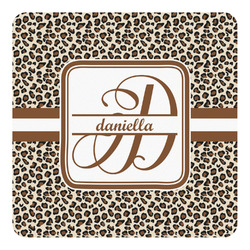 Leopard Print Square Decal - Medium (Personalized)