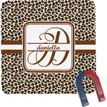 Leopard Print Square Fridge Magnet (Personalized)