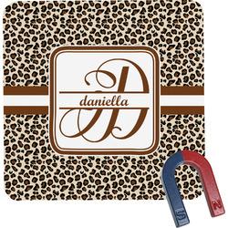 Leopard Print Square Fridge Magnet (Personalized)
