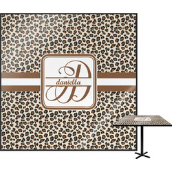"Leopard Print Square Table Top - 30"" (Personalized)"