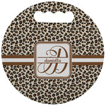 Leopard Print Stadium Cushion (Round) (Personalized)
