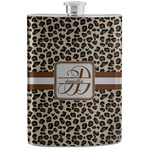 Leopard Print Stainless Steel Flask (Personalized)