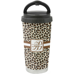 Leopard Print Stainless Steel Coffee Tumbler (Personalized)