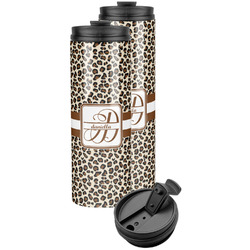 Leopard Print Stainless Steel Skinny Tumbler (Personalized)