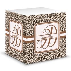 Leopard Print Sticky Note Cube (Personalized)