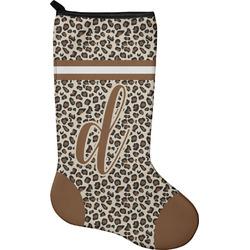 Leopard Print Christmas Stocking - Neoprene (Personalized)